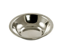 Bowl from stainless steel Stock Image