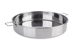 Bowl from stainless steel on background Stock Photos