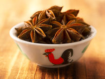 Bowl of star anise Royalty Free Stock Images