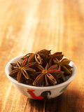 Bowl of star anise Stock Images
