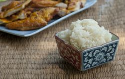 A bowl of sticky rice Royalty Free Stock Photo