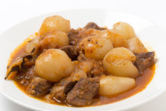Bowl of stifado Royalty Free Stock Image