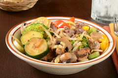 Bowl of stir fry Stock Images