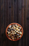 Bowl of stones Royalty Free Stock Photo