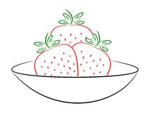 A bowl of straberries Stock Photos