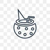 Bowl with Straw vector icon isolated on transparent background, vector illustration