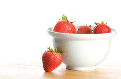 Bowl of Strawberries Stock Images