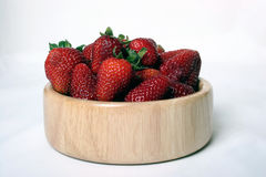 A bowl of strawberries. Image of a bowl of strawberries Stock Photo