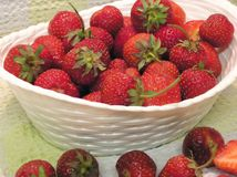 Bowl Of Strawberries. A bowl of ripe strawberries Royalty Free Stock Image