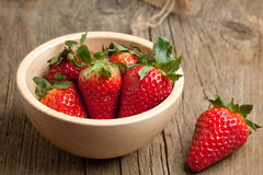 Bowl of strawberries Stock Photography