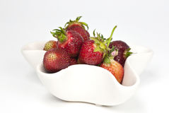 Bowl with strawberries. A bowl full of freshly picked natural growned strawberries Stock Photo
