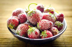 Bowl of strawberries Stock Photo