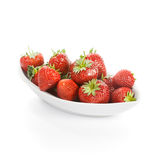 Bowl with Strawberries Stock Images