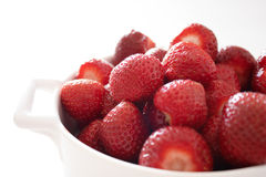 A bowl of strawberries Stock Images
