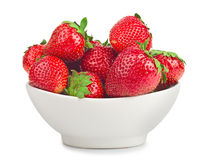 Bowl with strawberries Royalty Free Stock Photo