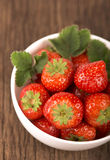 Bowl with strawberries Stock Image