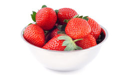 Bowl with strawberries Royalty Free Stock Photos