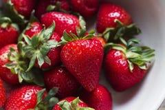 Bowl of Strawberries. A bowl of strawberries with nobody in shot stock photo