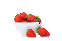 Bowl Strawberries Royalty Free Stock Image