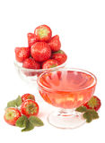 Bowl with strawberries and jelly Stock Images