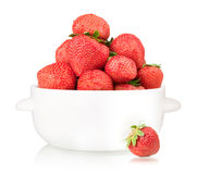 Bowl with strawberry Royalty Free Stock Photo