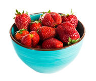 Bowl of strawberry with fresh berry Royalty Free Stock Images