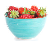 Bowl of strawberry with fresh berry Royalty Free Stock Photos