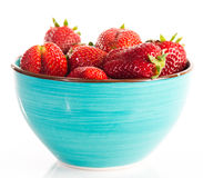 Bowl of strawberry with fresh berry Royalty Free Stock Photo