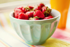 Bowl of strawberry Stock Photography