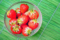 Bowl with strawberry Royalty Free Stock Image