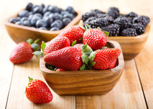 Bowl of strawberry Royalty Free Stock Photography