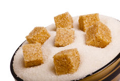 Bowl of sugar Royalty Free Stock Photo
