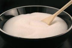 Bowl of sugar stock images