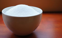 Bowl with sugar Stock Image