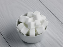 Bowl of Sugar lumps Royalty Free Stock Images