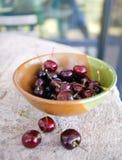 Bowl of Summer Cherries Royalty Free Stock Photo