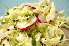 Bowl of summer cole slaw Stock Image