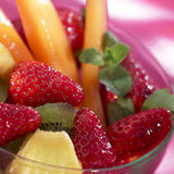 Bowl of summer fruit Royalty Free Stock Images