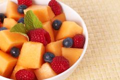 Bowl of summer fruit salad Stock Photography