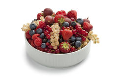 Bowl with summer fruit Royalty Free Stock Photography