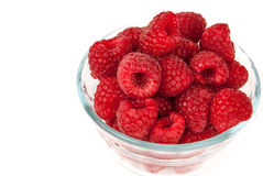 Bowl Of Summer Raspberries Royalty Free Stock Image