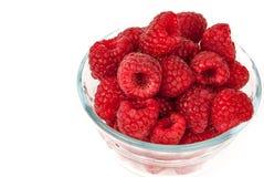 Bowl Of Summer Raspberries royalty free stock image