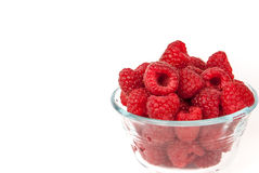 Bowl Of Summer Raspberries Royalty Free Stock Images