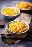 Bowl of  a sweet corn. Selective focus Royalty Free Stock Photo