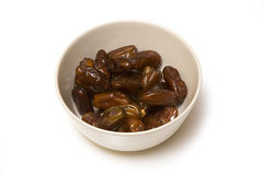 Bowl of sweet dates Stock Photography