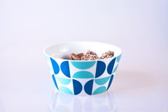 Bowl of sweets. A bowl containing chocolate candy Stock Photo