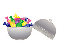 Bowl of sweets Stock Images