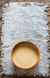 Bowl of tahini Royalty Free Stock Photography