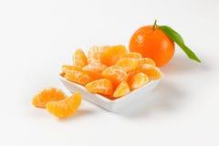 Bowl of tangerine segments Royalty Free Stock Photography
