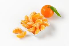Bowl of tangerine segments Royalty Free Stock Images
